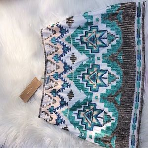 miami Skirts - NWT Francesca's Tribal Sequined Mini Skirt Sz M
